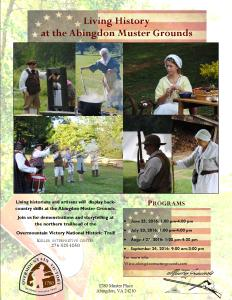 Living History flyer 2016