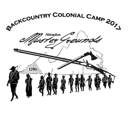 Backcountry colonial camp t-shirt design 2017