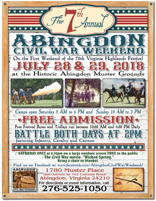 7th annual civil war weekend - Flyer Muster